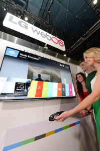 LG shows off the new webOS for smart TV (Photo courtesy of LG)